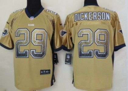 Nike St. Louis Rams  29 Eric Dickerson 2013 Drift Fashion Gold Elite Jersey.  Find this Pin and more on NFL Los Angeles ... 8319a149b