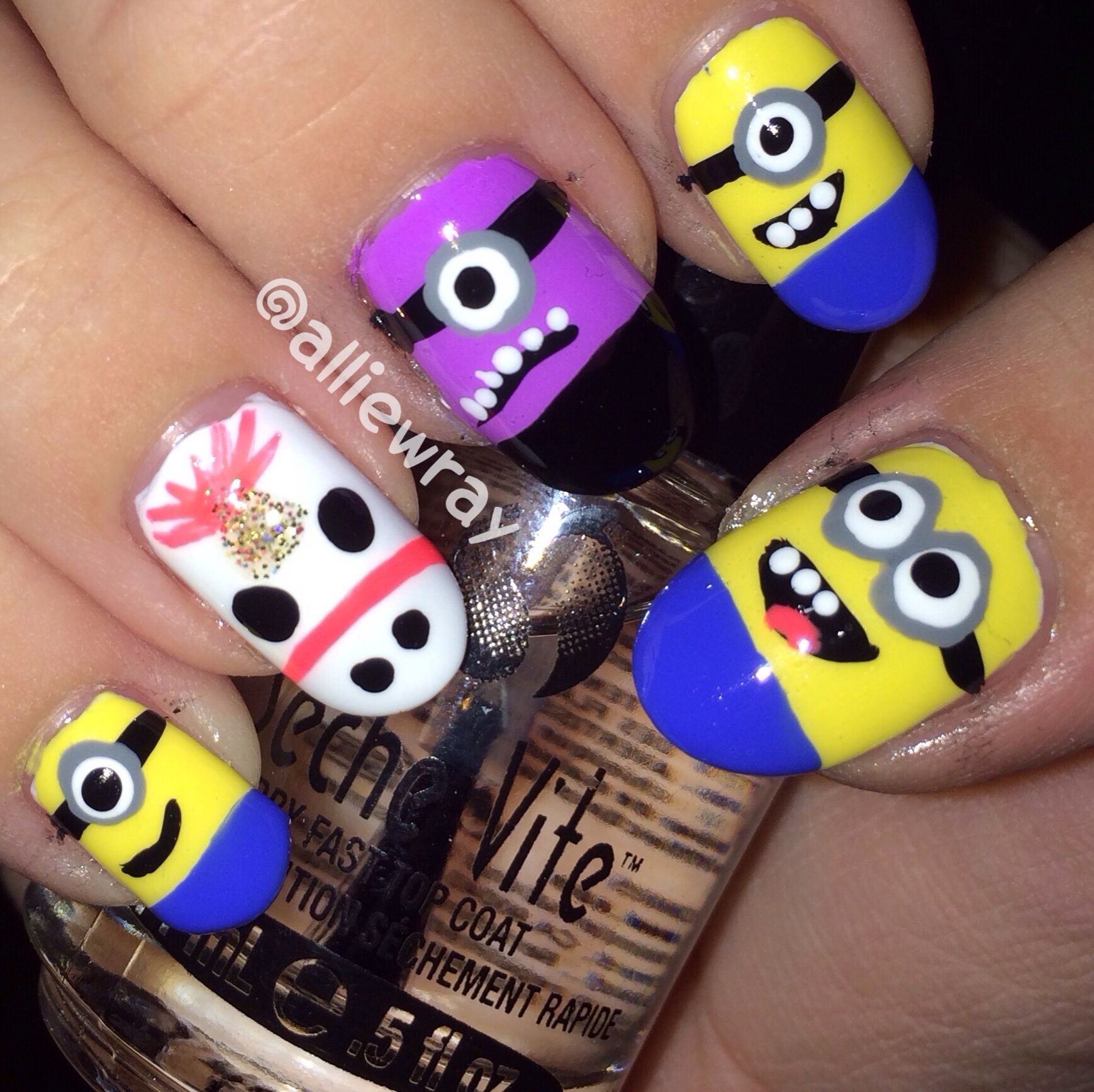 Despicable Me Nails | My Nails | Pinterest | Minion nails, Nails ...