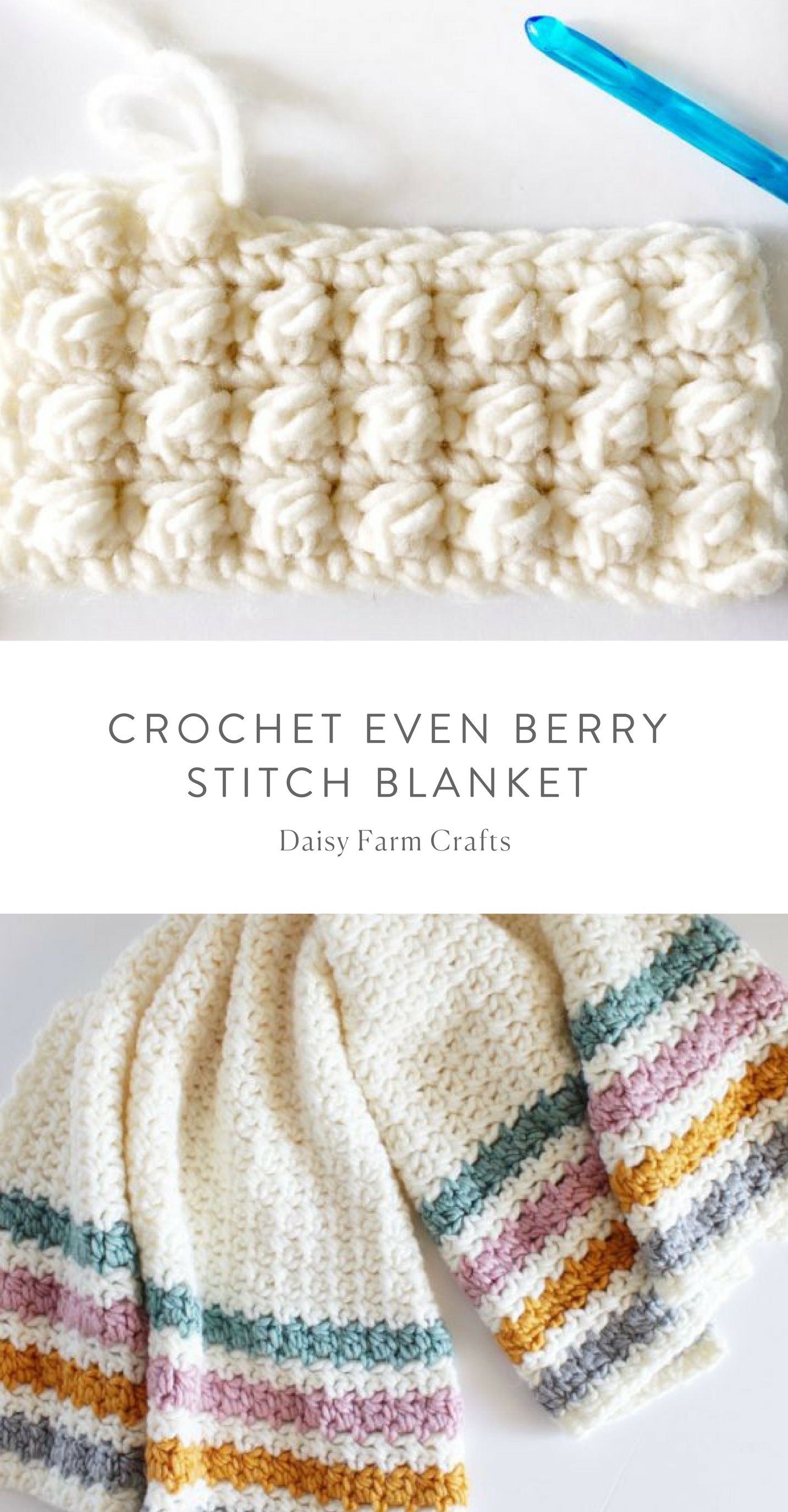 Free Pattern - Crochet Even Berry Stitch Blanket | crochet ...