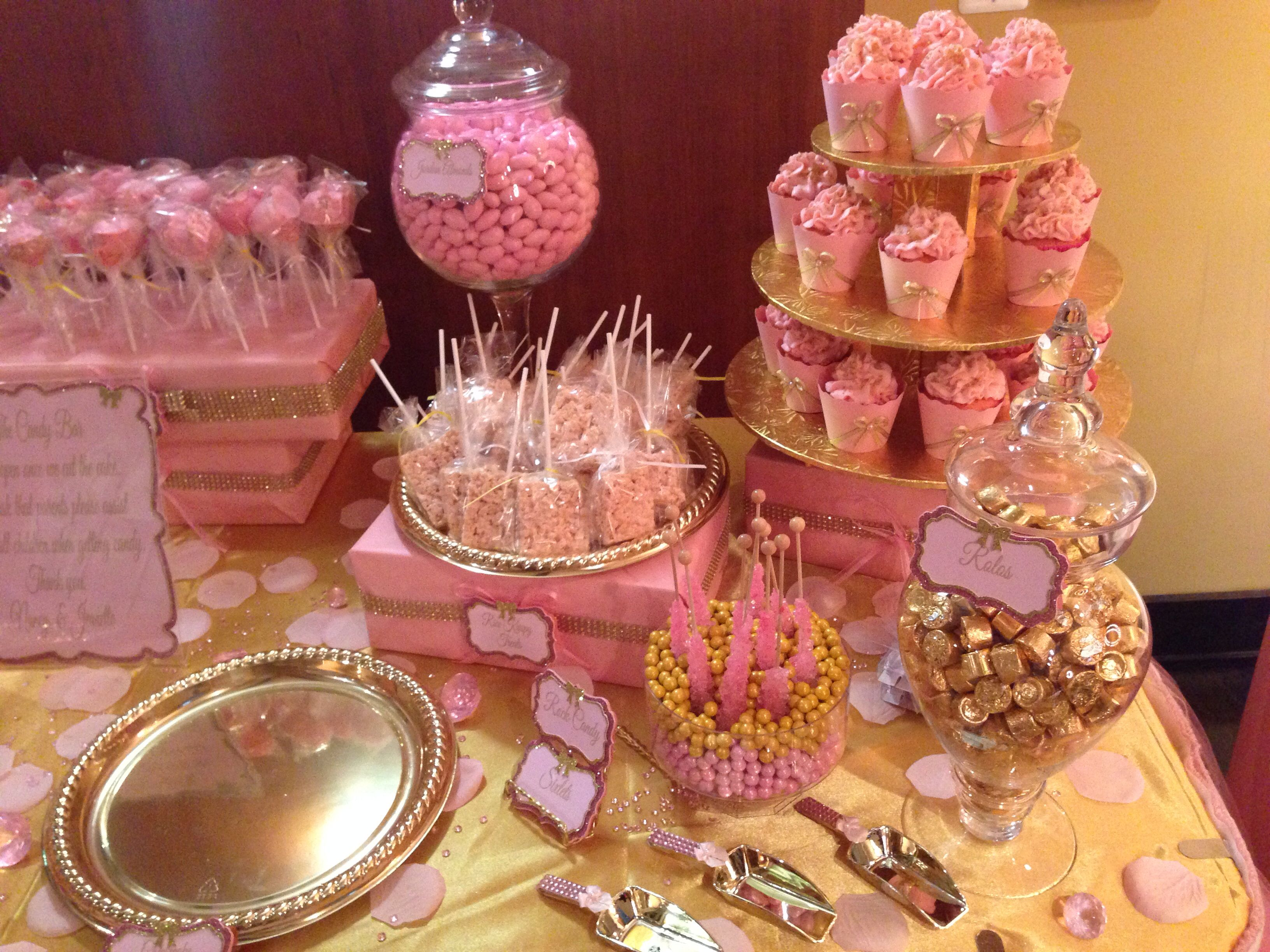 Pink and Gold Baby Shower | Baby shower ideas | Pinterest ...