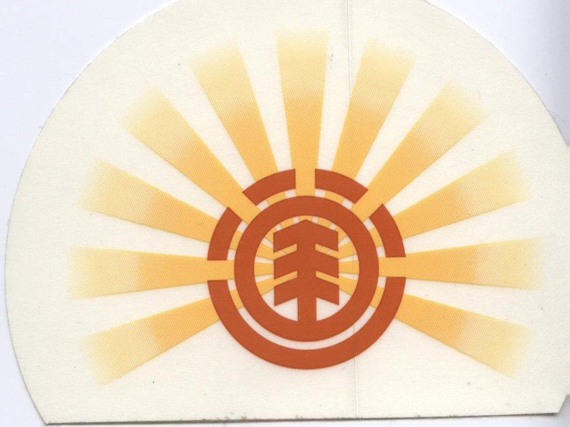 Element Skateboards Rising Sun Logo Sticker.  Click on picture to purchase #skate #skateboard #skateboarding #element #elementskateboards #bam #BamMargera