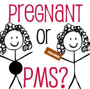 pms symptoms vs pregnancy symptoms difference chart cramps rh pinterest com