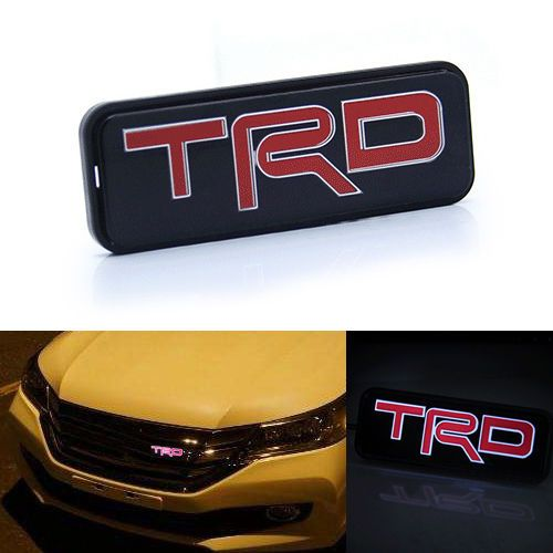 Free shipping TRD LED Red Emblem Car Front Grill Grille Badge For ...