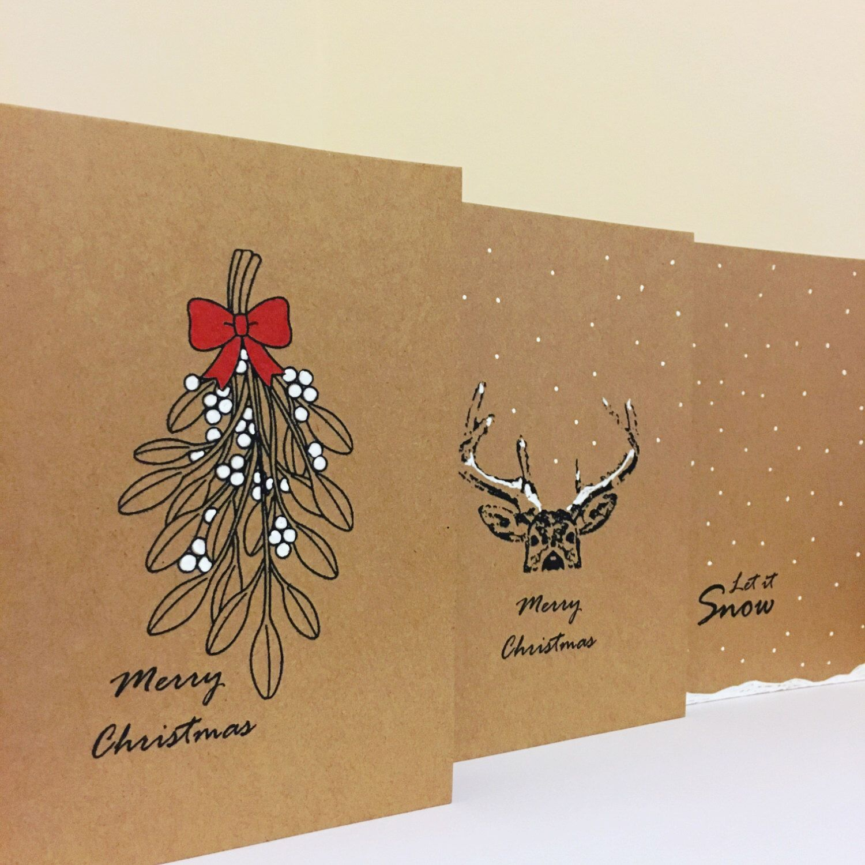 Christmas Card Set, Christmas Cards, Simple Cards