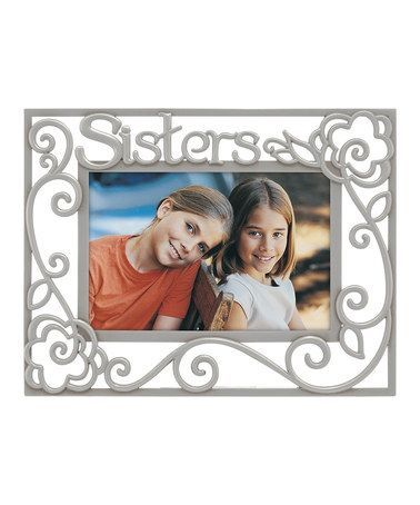 Take a look at this \'Sisters\' Pierced Pewter Frame by Malden on ...