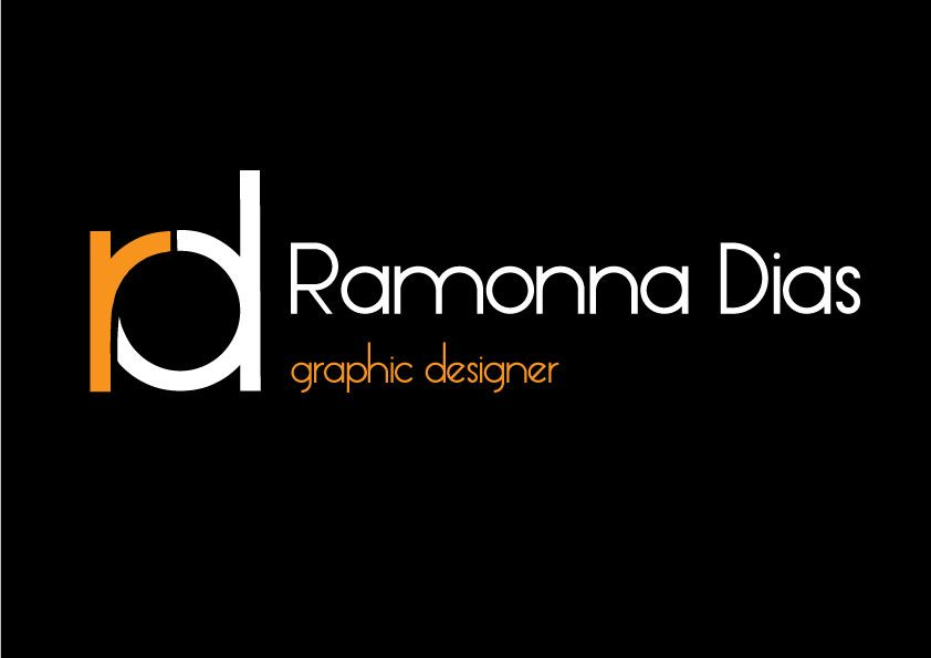 Like how the initials of Ramonna Dias have been manipulated and merged together to form a simple but effective icon . Using the same typeface the 'r' makes up part of the 'd' to create and transform her initials into a logo that she can be recognised by. A really clever way of adapting both letters as it would not work if the letter's were higher case . Because the 'r' has been coloured it separates the letters and co-ensides with with the rest of her layout and design