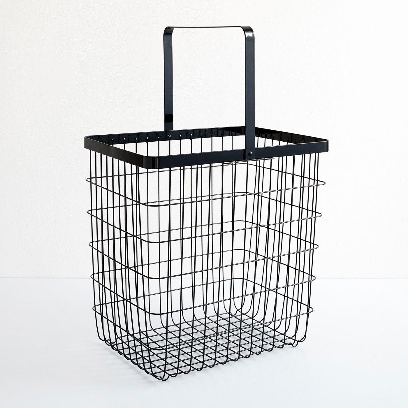 Tower Black Large Floor Basket With Images Floor Baskets Basket Plastic Laundry Basket