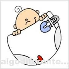Resultado de imagen para bebe con pañal dibujo