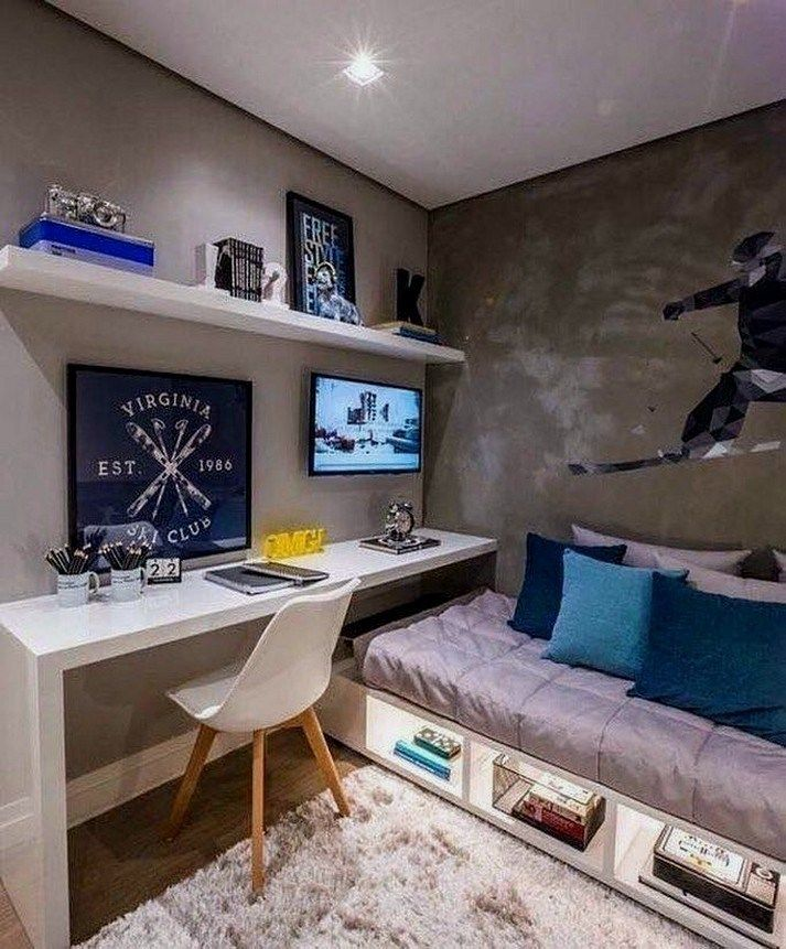 Stylish Storage Ideas For Small Bedrooms: 32+ Cool And Stylish Boys Bedroom Ideas 21