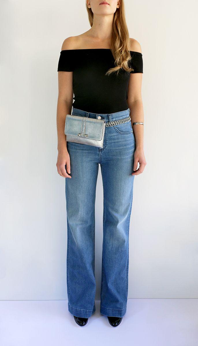 a9bb5a1f91d6 Silver Flat Waist Belt Bag