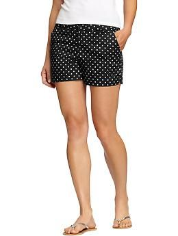 """Women's Printed Twill Shorts (3 1/2"""") 