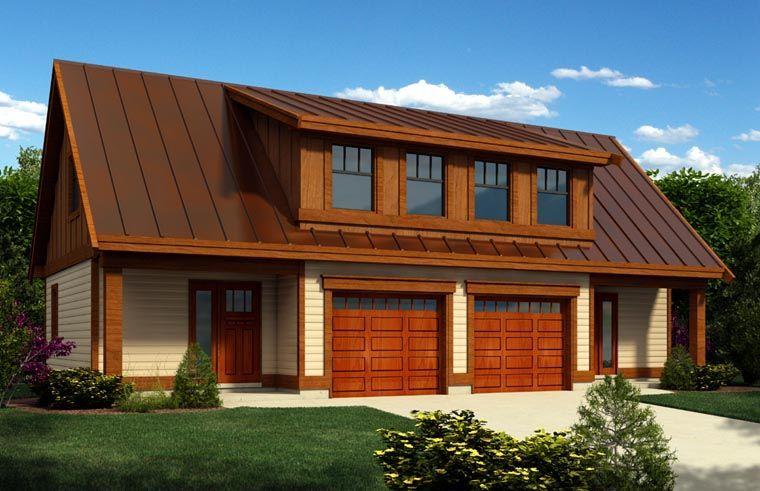 2 Car Garage Apartment Plan Number 76021 With 1 Bed 1 Bath Carriage House Plans Bungalow Style House Plans Garage Workshop Plans