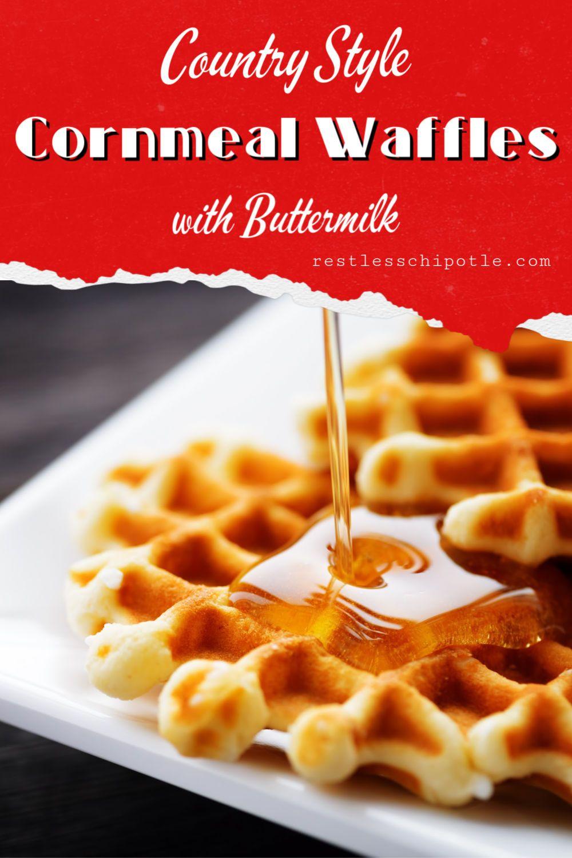 Homemade Cornmeal And Buttermilk Waffles Recipe Recipe In 2020 Cornmeal Waffles Waffles Waffle Recipes