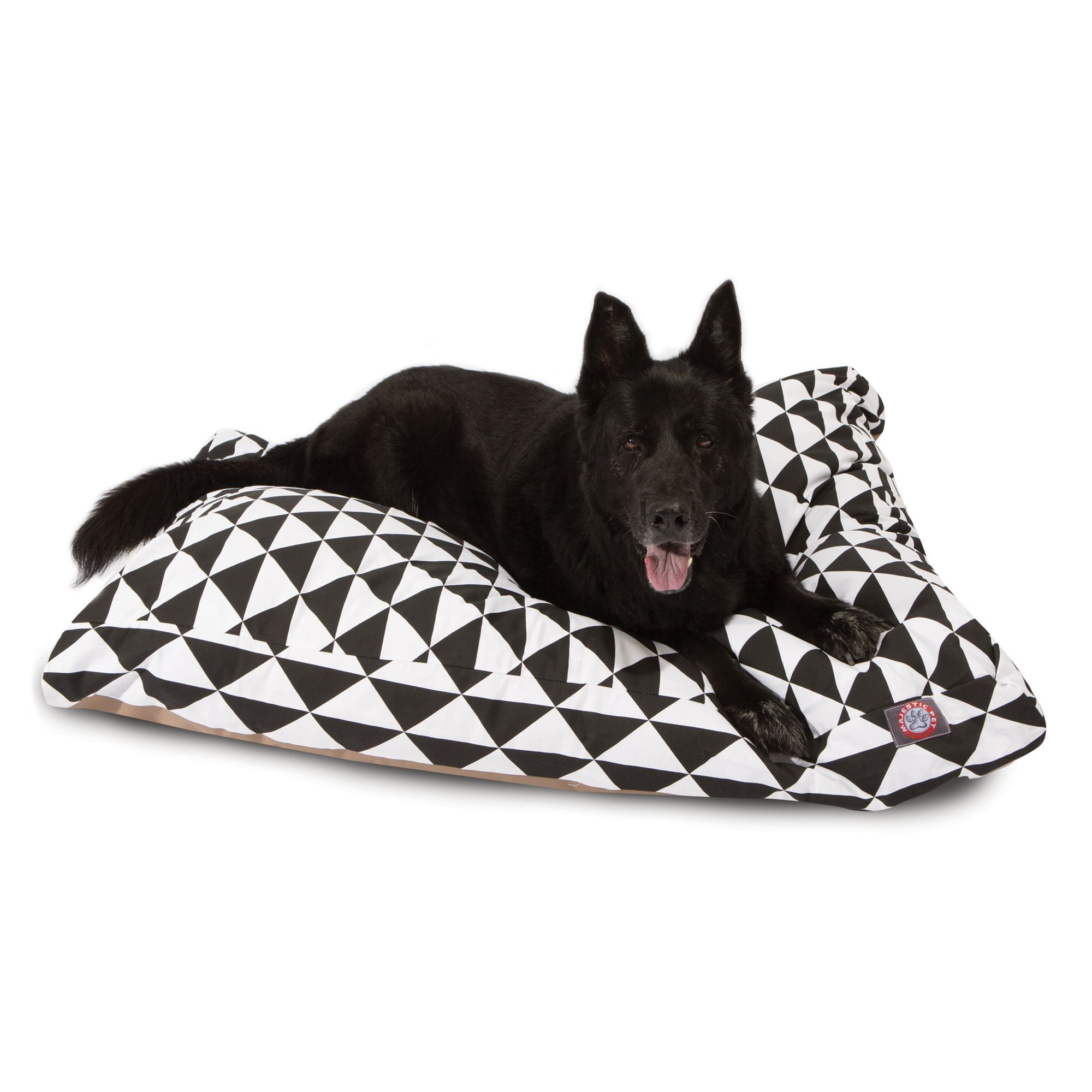 Majestic Pet Triangles Black Dog Bed Size 44 L X 36 W X 5 H Dog Bed Pets Dog Pillow Bed