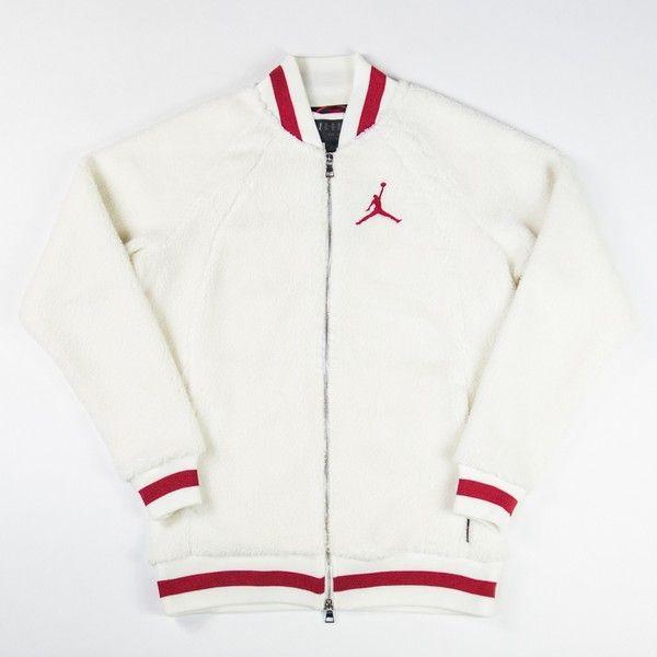 882e14a13743fc Air Jordan 1 Fleece Jacket (Sail/Gym Red) - $150 | APPAREL | Jackets ...