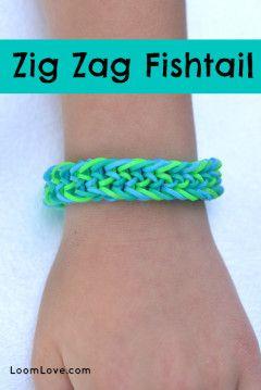 zig zag fishtail rainbow loom