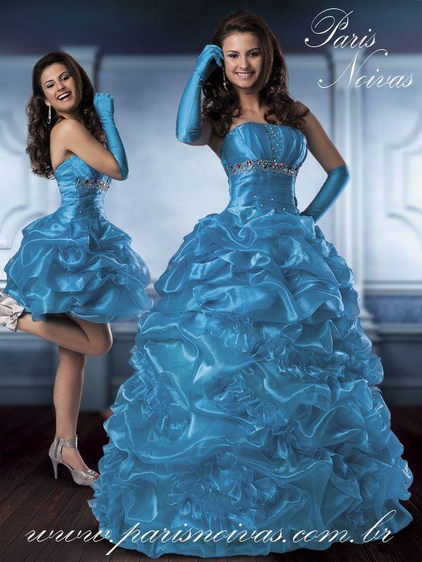 40d4cdf00 vestidos de 15 anos 2 em 1 - Pesquisa Google   Vestidos de ...