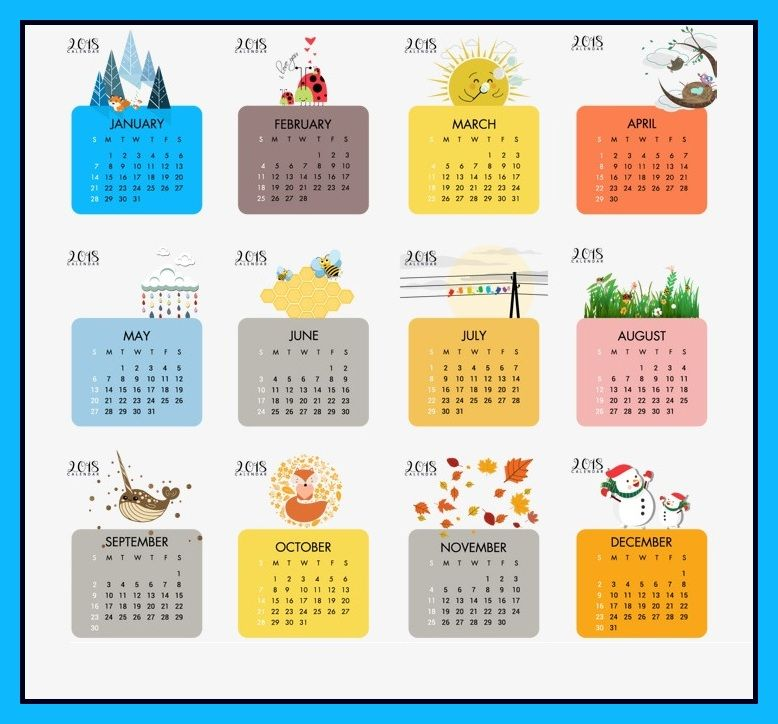 Season Wall Calendar   Printable Calendars