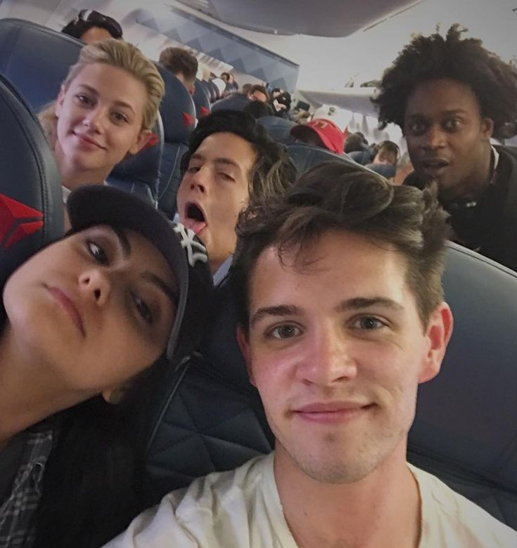 When the squad caught a flight together and took this pic.