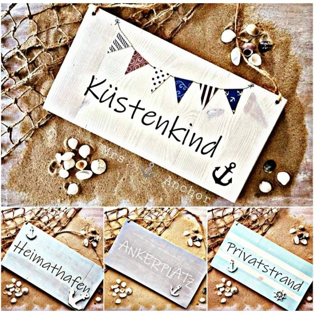 Photo of Your personal wooden sign / door sign! Wooden decoration maritime with WUNSCHTEXT & W