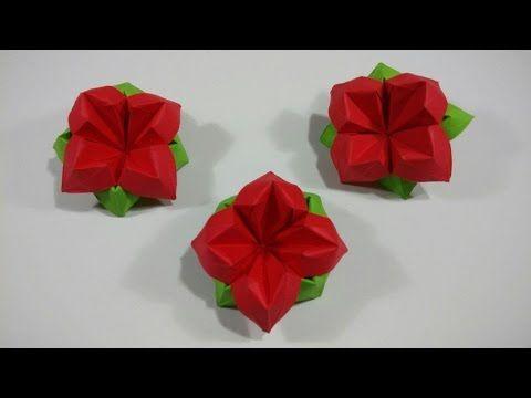 How to make an easy origami flower youtube handwork pinterest how to make an easy origami flower youtube mightylinksfo
