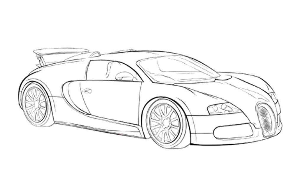 Car Sport Bugatti Veyron Coloring Page Car Coloring Pages