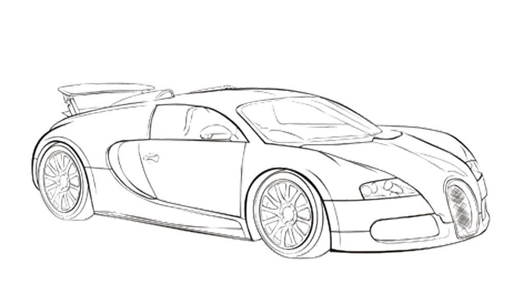 Car Sport Bugatti Veyron Coloring Page 람보르기니