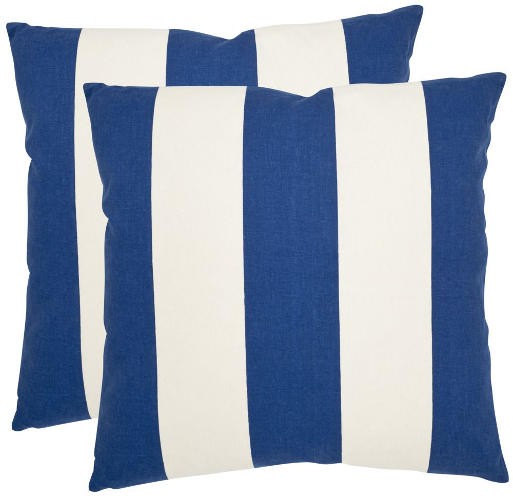 Sally Pillow - Navy/Blue, Set of 2 - Safavieh - $62.40 - domino.com