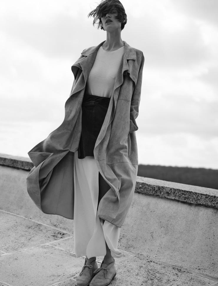 Saskia de Brauw By Annemarieke Van Drimmelen For Twin Magazine Spring-Summer 2015 - Minimal