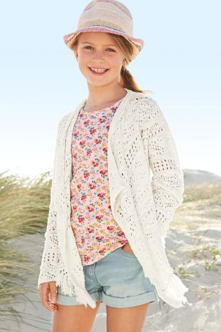 Buy Crochet Waterfall Cardigan (3-16yrs) from the Next UK online ...