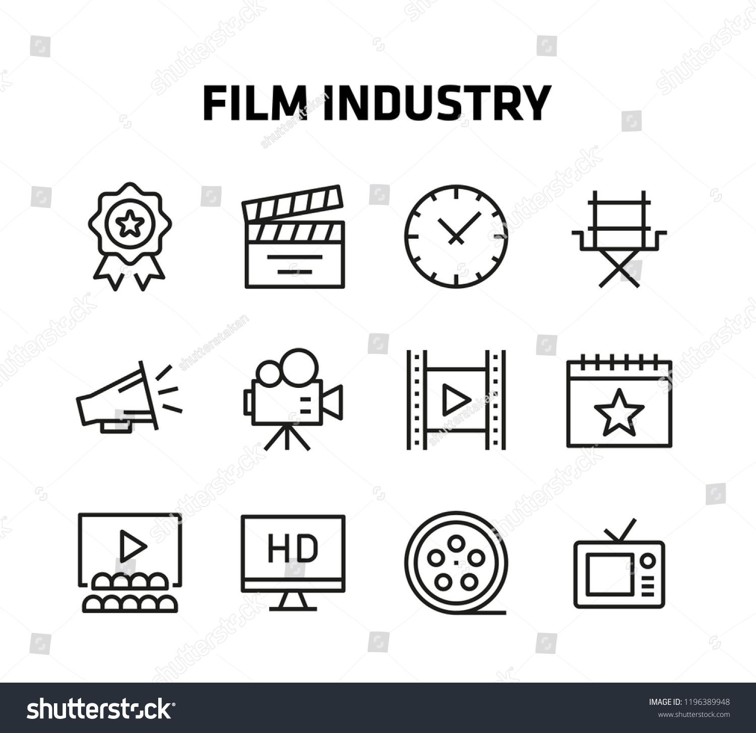 Film Industry Thin Line Icons For Websites And Mobile Apps Sponsored Ad Thin Line Film Industry Line Icon Thin Line Film Industry