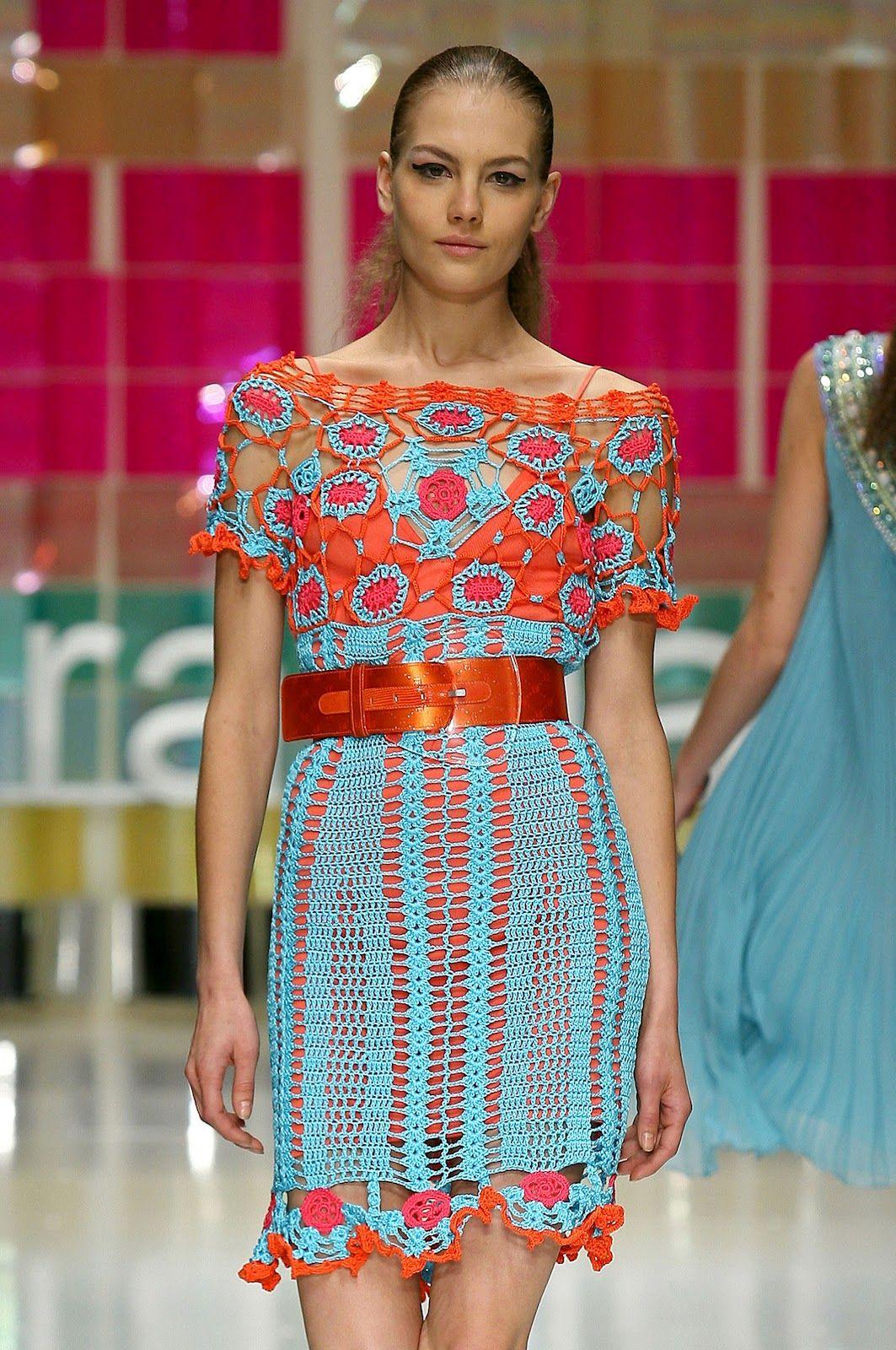 crochet dress | Laura Biagiotti. SS 2006. Crochet dress. | Needles ...