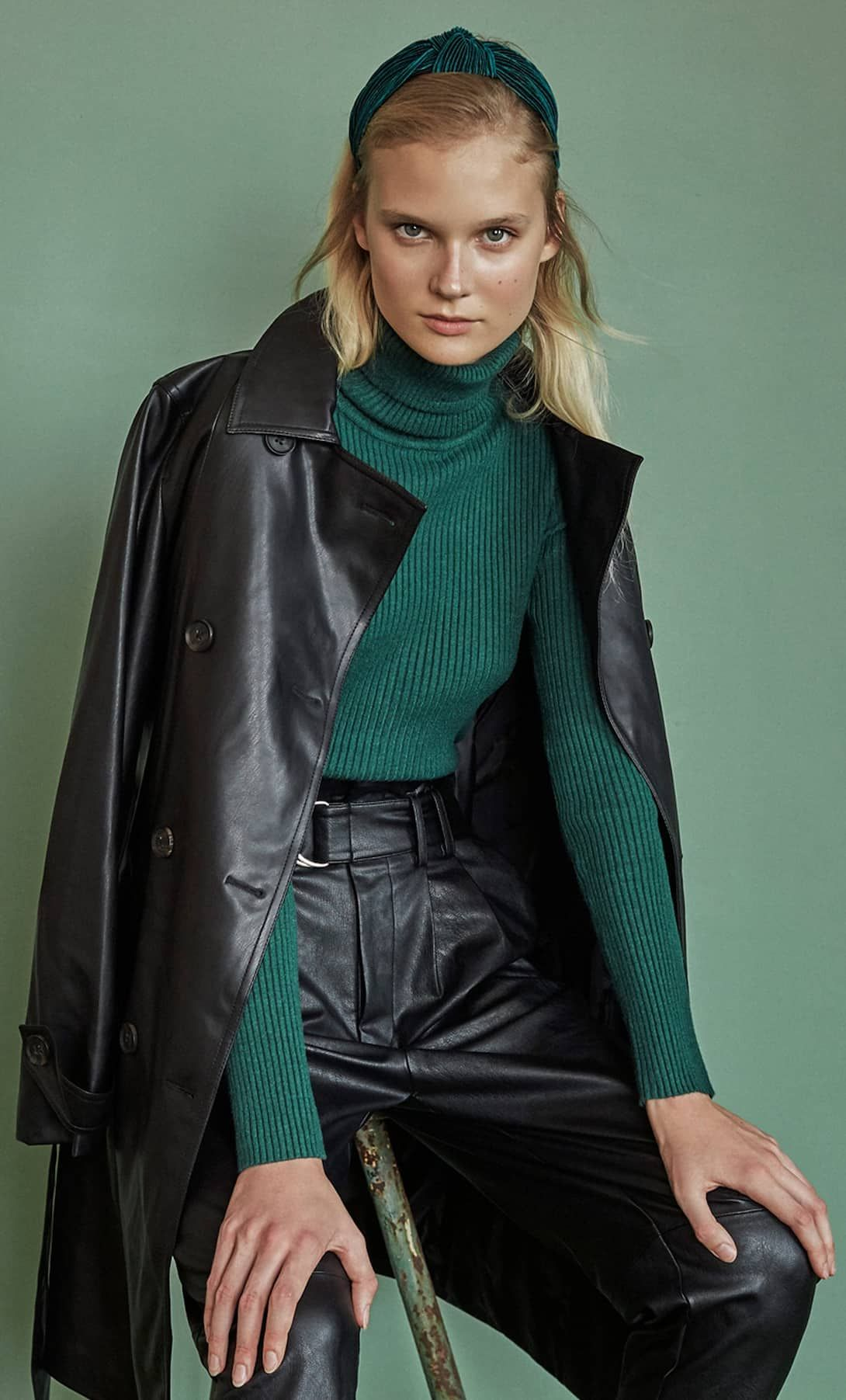Faux leather trench coat Trench coats women, Leather