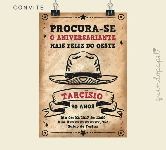 Convite faroeste 64fd29d843b