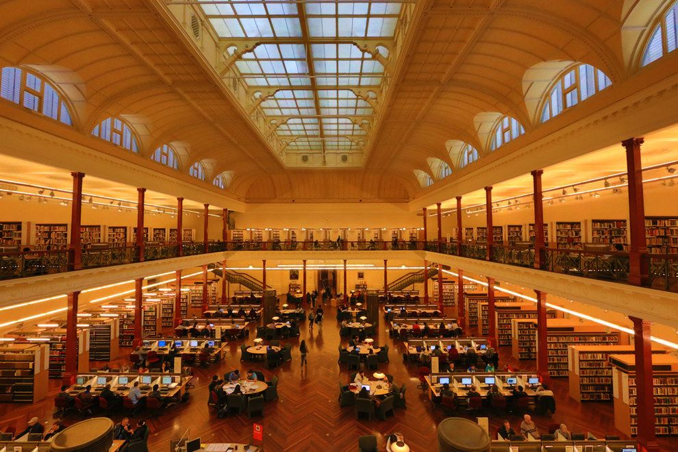 Because the State Library is the perfect place to relax. Or study. Or explore. | 53 Reasons Living In Melbourne Ruins You For Life