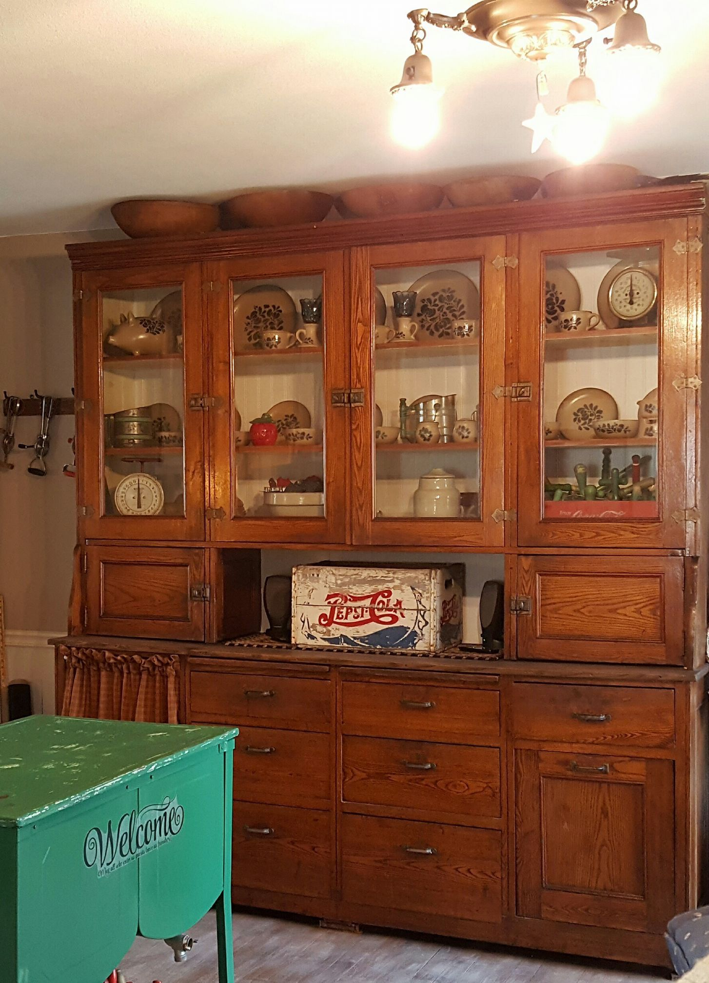 Beautiful Old Kitchen Cupboard The Light Fixture Antique Kitchen Cabinets Kitchen Cabinets On A Budget Antique Kitchen