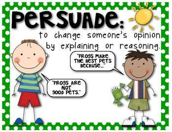 001 Fact, Opinion, Persuade POSTER SET for the Classroom