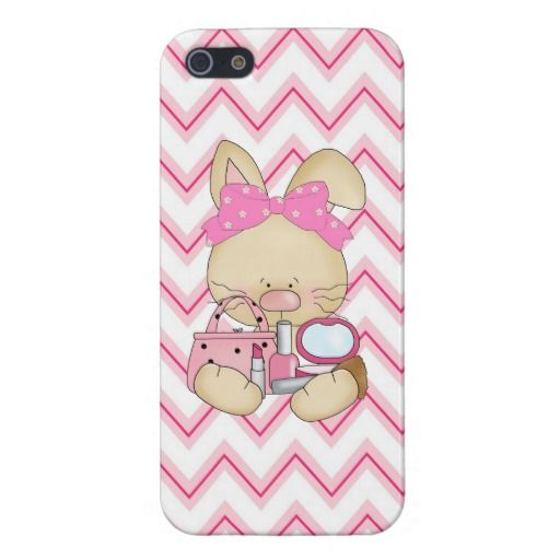 Girly Bunny iPhone5 Savvy Glossy case iPhone 5 Covers