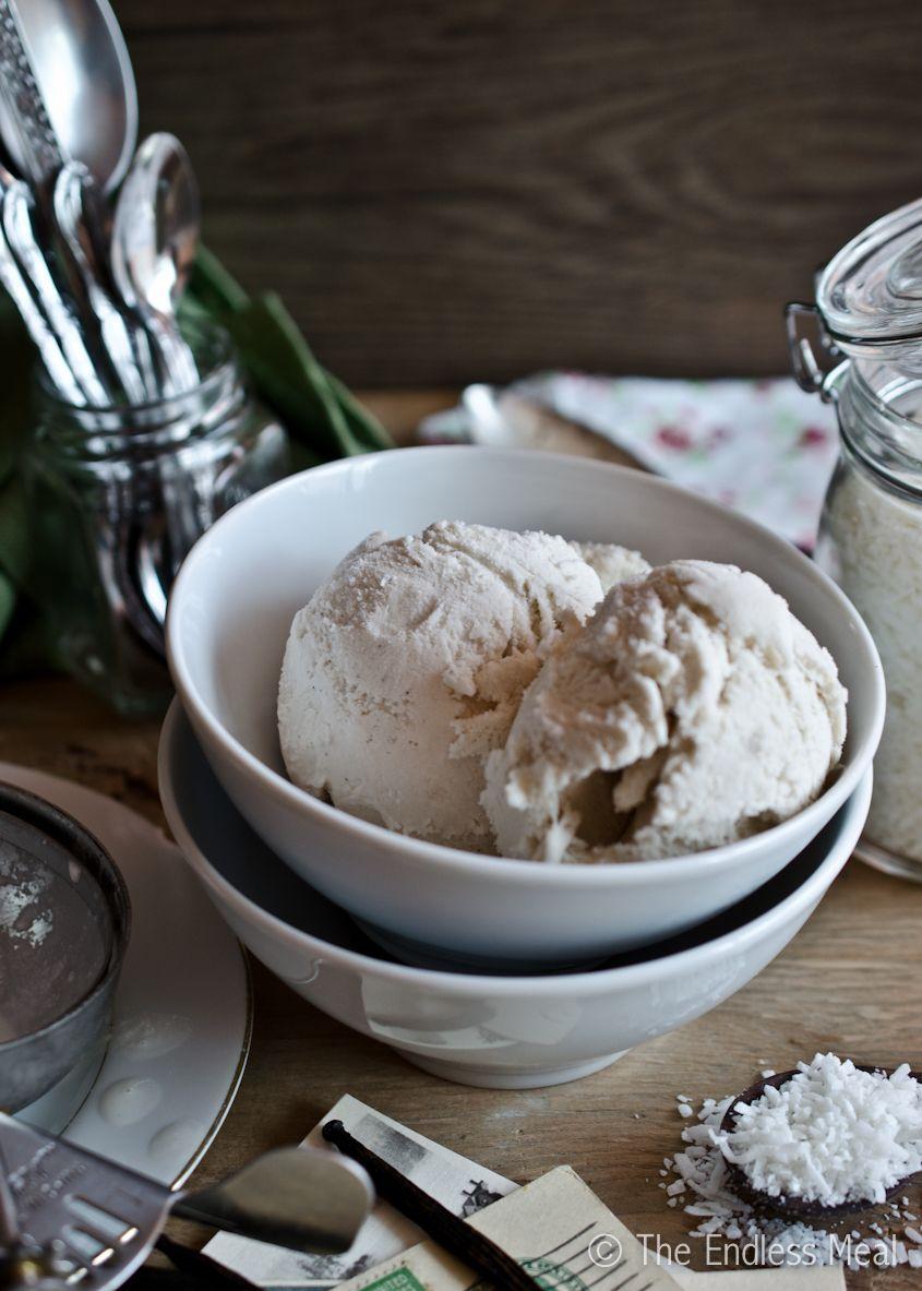 Vanilla Coconut Ice Cream Easy Recipe The Endless Meal Recipe Coconut Ice Cream Ice Cream Healthy Ice Cream Recipes