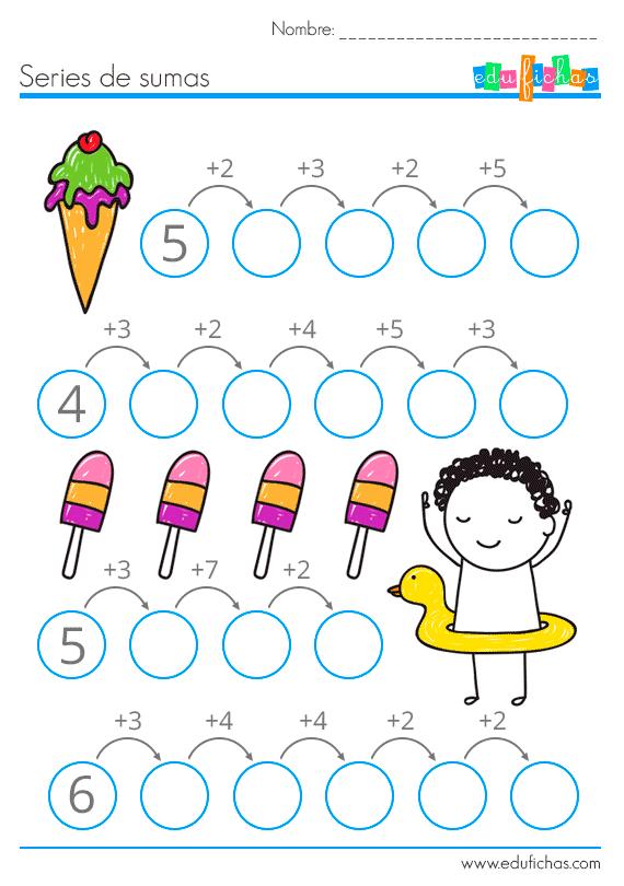Fichas De Sumas Para Niños Actividades De Matemáticas Preescolares Actividades De Matematicas Matematicas Primero De Primaria