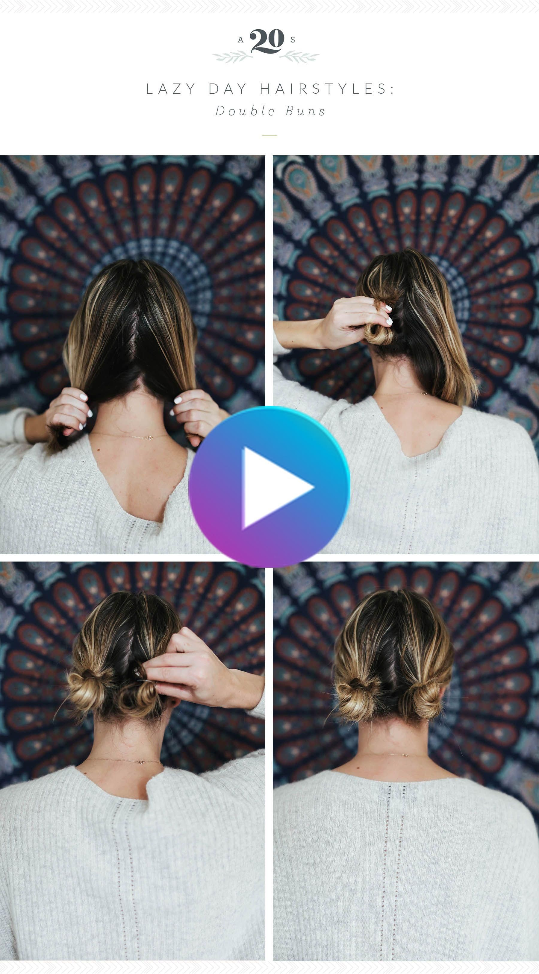 3 Easy Hairstyles For Lazy Days In 2020 Lazy Girl Hairstyles Cute Lazy Hairstyles Short Hair Styles Easy