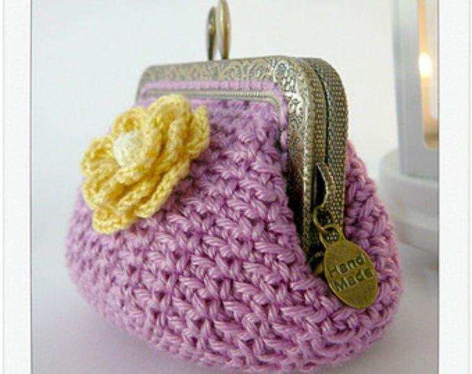 PATRÓN de Monedero en Crochet // Ganchillo {Modelo nº 19}   Nivel ...
