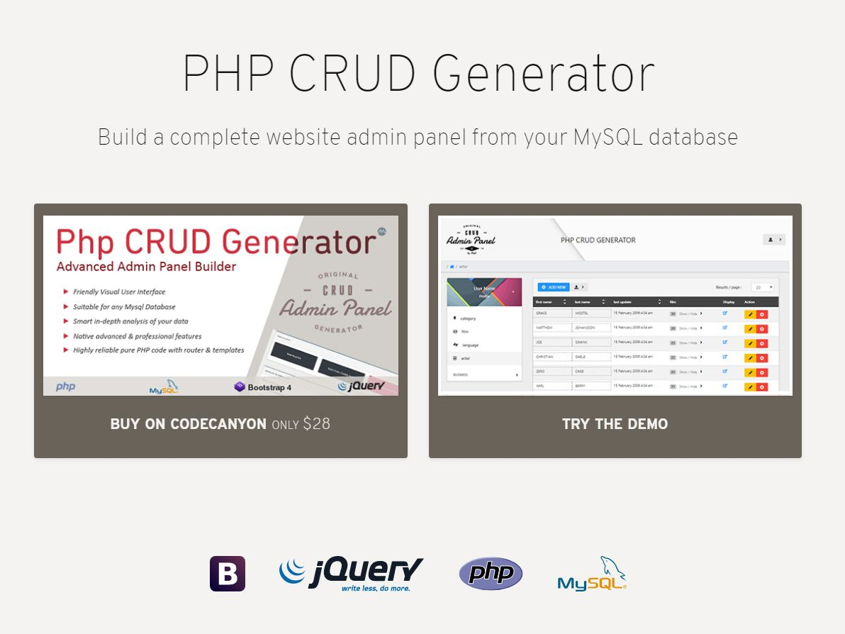 How To Create Your Bootstrap Crud Admin Dashboard From Your Mysql
