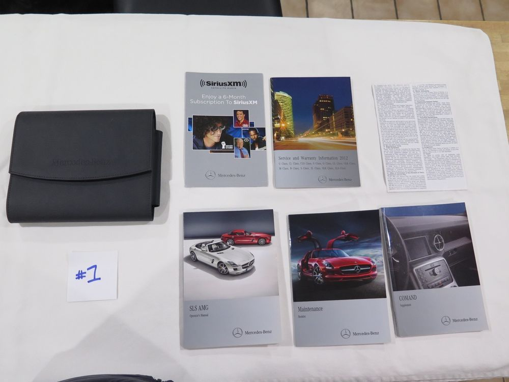 2012 Mercedes Sls Amg Owners Manuals Set With Case Oem 1 Mercedes Sls Cars Trucks Owners Manuals