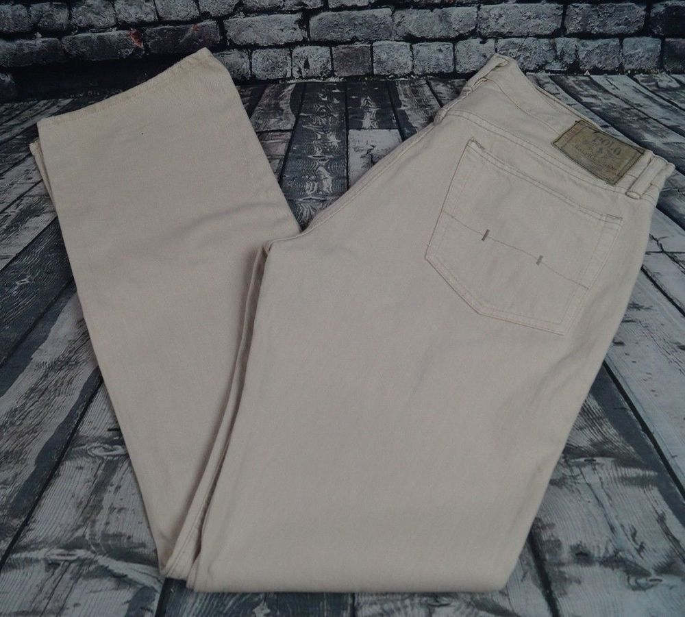 63d1cce5 Polo Ralph Lauren 867 Jeans Classic Fit Straight Leg Off White Wash ...