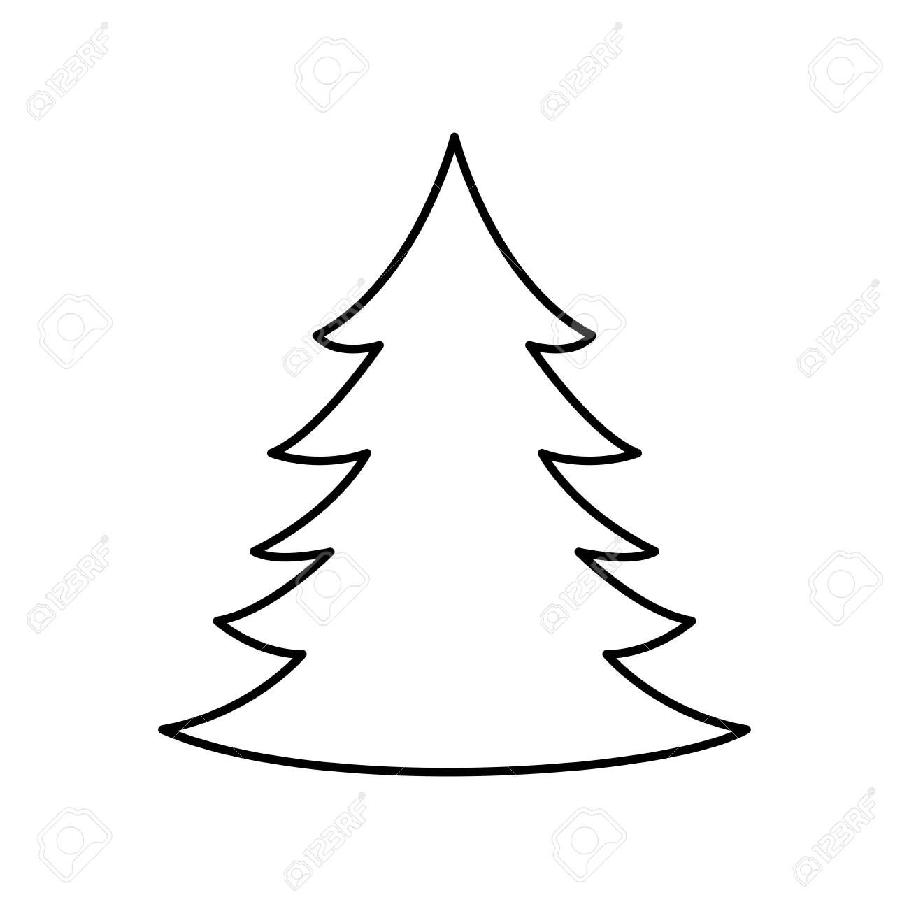 Pine Tree Christmas Line Style Icon Vector Illustration Design Illustration Sponso Presentation Design Layout Vector Illustration Design Illustration Design