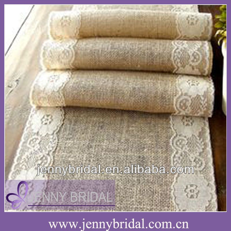 Tr004b Fancy Wedding Burlap And Lace Table Runner   Buy Burlap Table Runner,Wedding  Table Runner,Table Runner Sizes Product On Alibaba.com