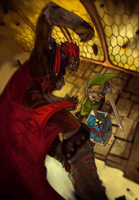 Ganondorf Versus Link In Ganon S Castle The Legend Of