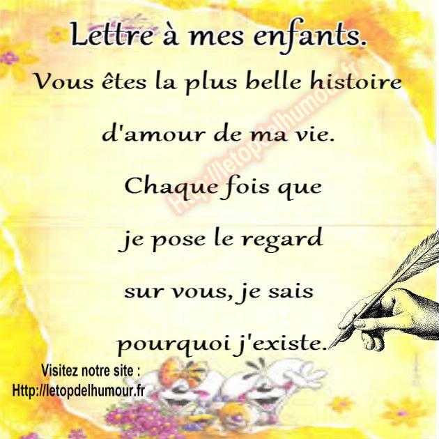 Lettre Enfaunt Amour Plume Papier Histoire Citation Amour