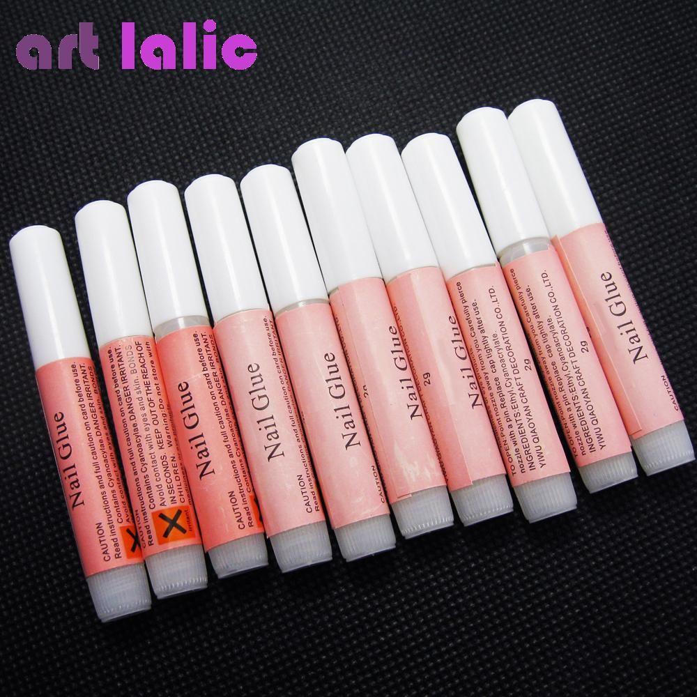 Nail Glue 10 x 2g Nail art Faluse Nail Tips Professional Acrylic ...